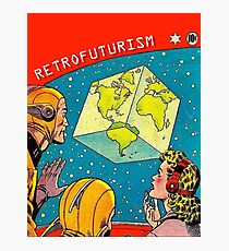 Earth became a cube, vintage sci-fi comics cover Photographic Print