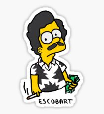 EscoBart (White) Sticker