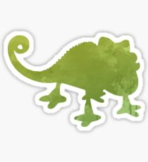 Chameleon Inspired Silhouette Sticker