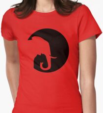 Elephant moon Womens Fitted T-Shirt
