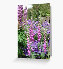 Cottage Garden Flowers Greeting Card