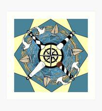 NC Lighthouse Mandala Art Print