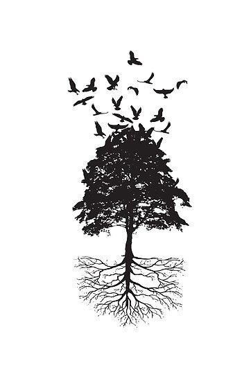 Tree & Birds by Rae Cooper