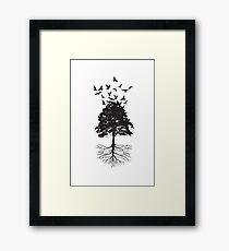 Tree & Birds Framed Print