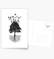 Tree & Birds Postcards