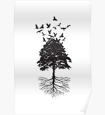 Tree & Birds Poster