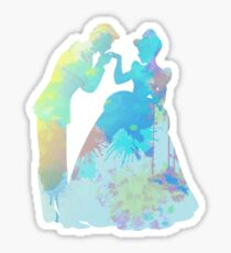Prince and Princess Inspired Silhouette Sticker