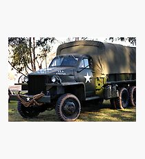 ARMY TRUCK Photographic Print