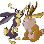 A Rabbit and a Jackalope by DuemmelDoodles