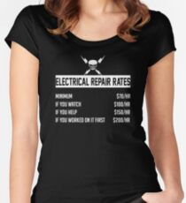 Electrical Repair Rates Women's Fitted Scoop T-Shirt