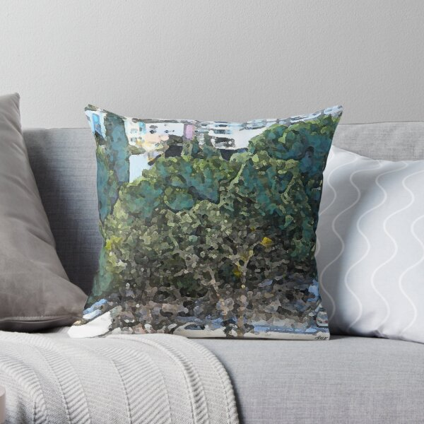 Urban Trees at UCLA Throw Pillow