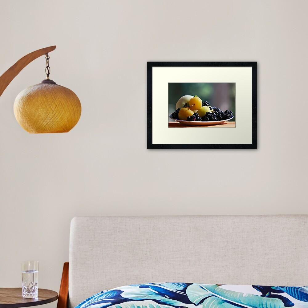 August Still Life  Framed Art Print