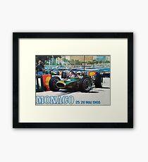 Gran Prix de Monaco, 1968, originales Vintage-Plakat Gerahmtes Wandbild