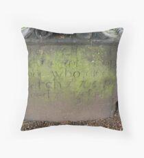 'Retired' Gravestone Throw Pillow