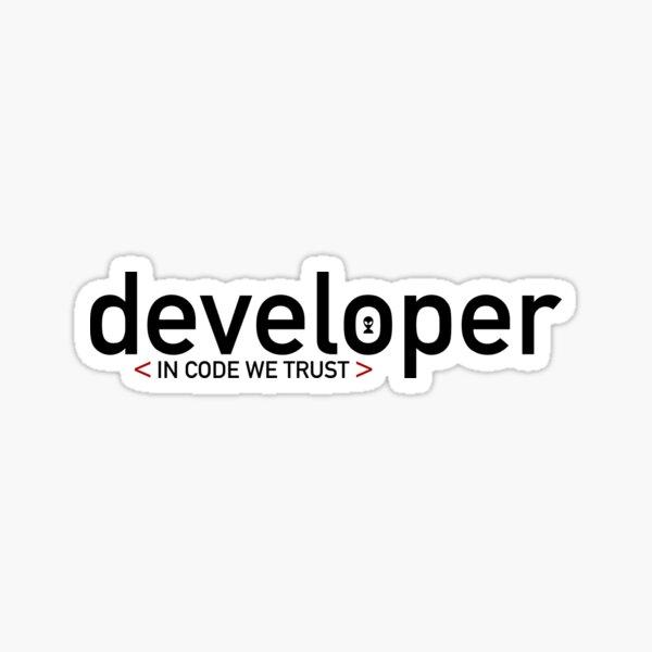 Developer: In code we trust Sticker