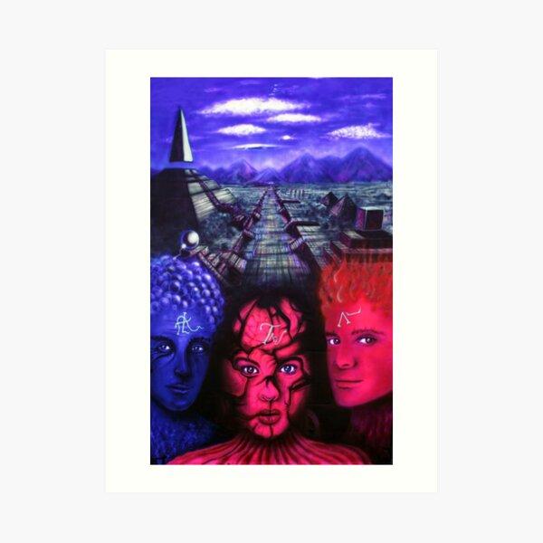 """TRIPTYCH """"EREBOS"""" 3/3 Art Print"""