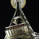 Seattle Space Needle by Night by Hannah Larsson
