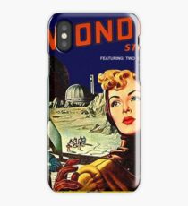 Space woman, explorer, science fiction poster, comics cover iPhone Case/Skin