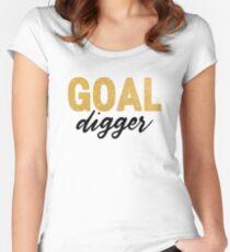 Goal Digger Feminism Women's Fitted Scoop T-Shirt