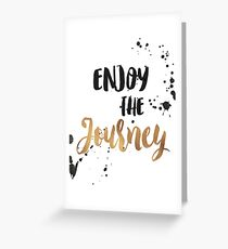 Gold Foil Motivational Quote Greeting Card