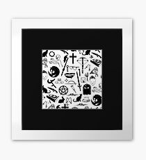 Buffy Symbology - Black Framed Print
