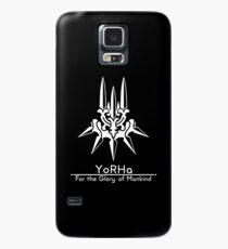 YoRHa + Motto Schwarzer Hintergrund Hülle & Klebefolie für Samsung Galaxy