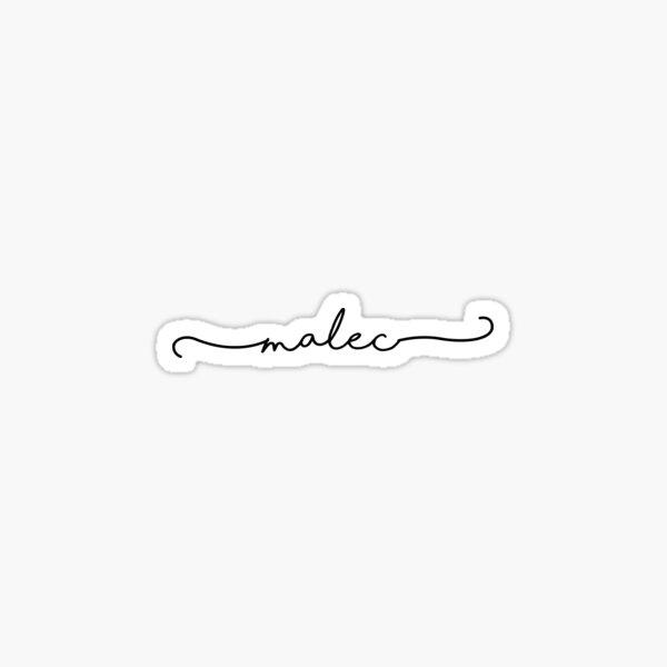 Malec in cursive Sticker
