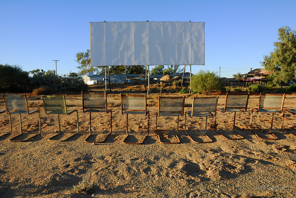 Sunset at the Tibooburra Cinema by Jeff Catford
