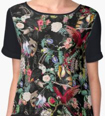 Floral and Birds IX Chiffon Top