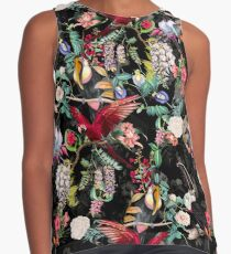 Floral and Birds IX Contrast Tank