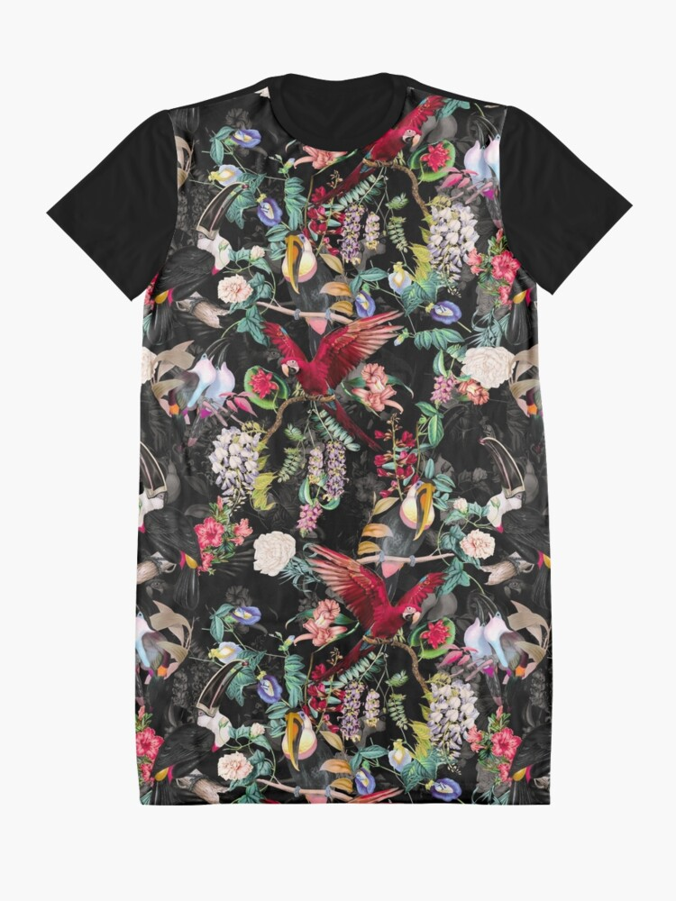 Alternate view of Floral and Birds IX Graphic T-Shirt Dress