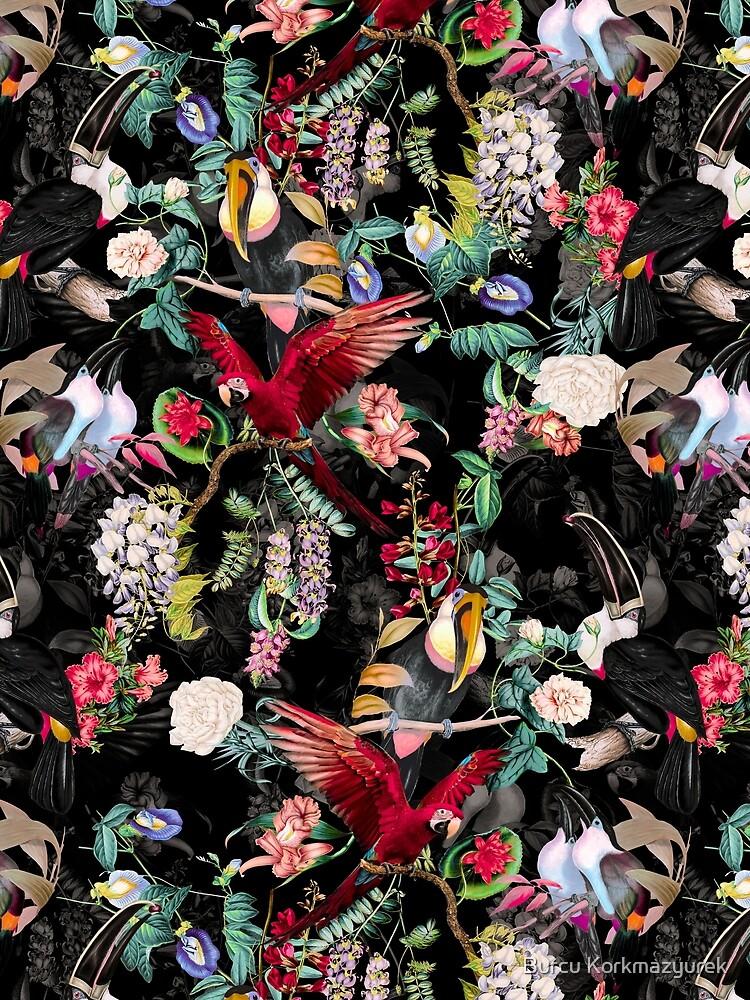 Blumen und Vögel IX von burcukyurek