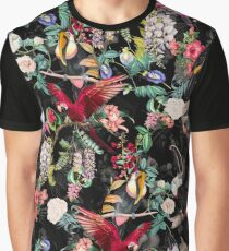 Floral and Birds IX Graphic T-Shirt