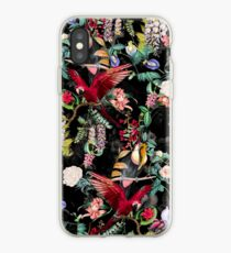 Floral and Birds IX iPhone Case