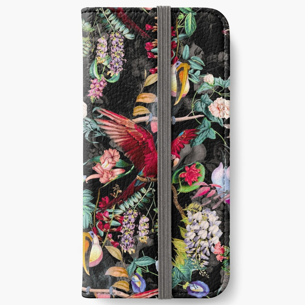 Floral and Birds IX iPhone Wallet