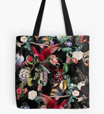 Floral and Birds IX Tote Bag