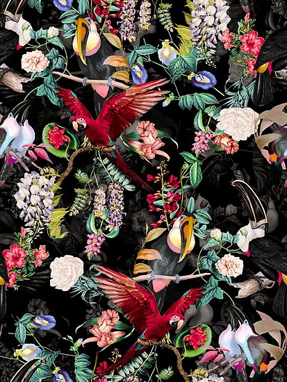 Floral and Birds IX by Burcu Korkmazyurek