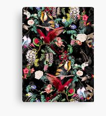 Floral and Birds IX Canvas Print