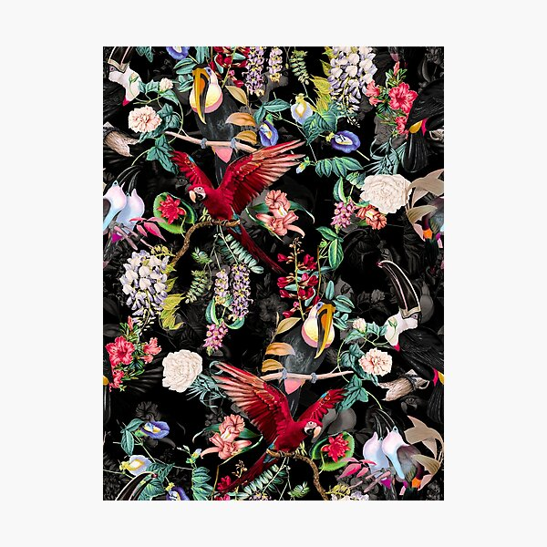 Floral and Birds IX Photographic Print