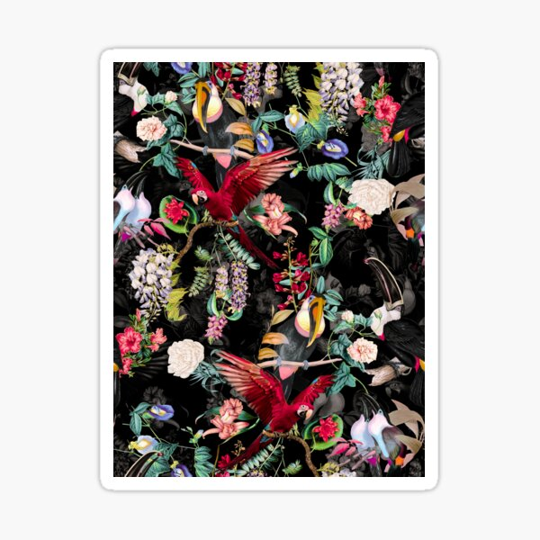 Floral and Birds IX Sticker
