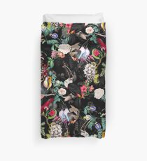 Floral and Birds IX Duvet Cover