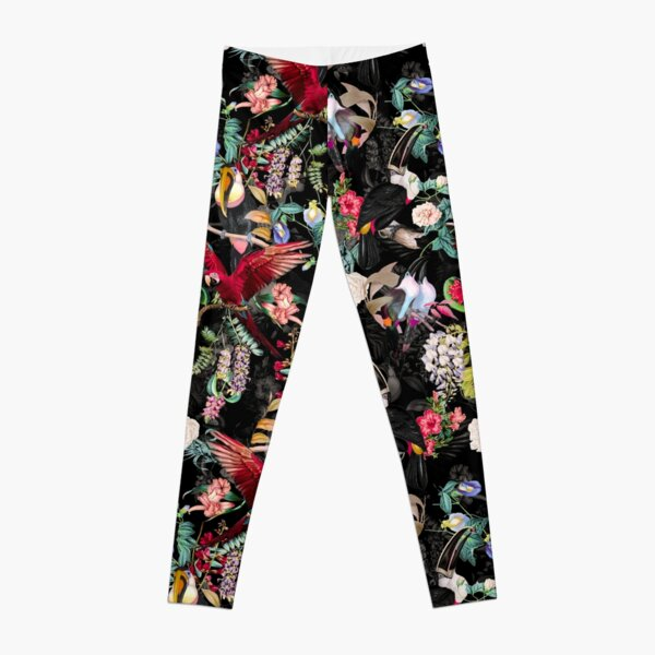 Floral and Birds IX Leggings