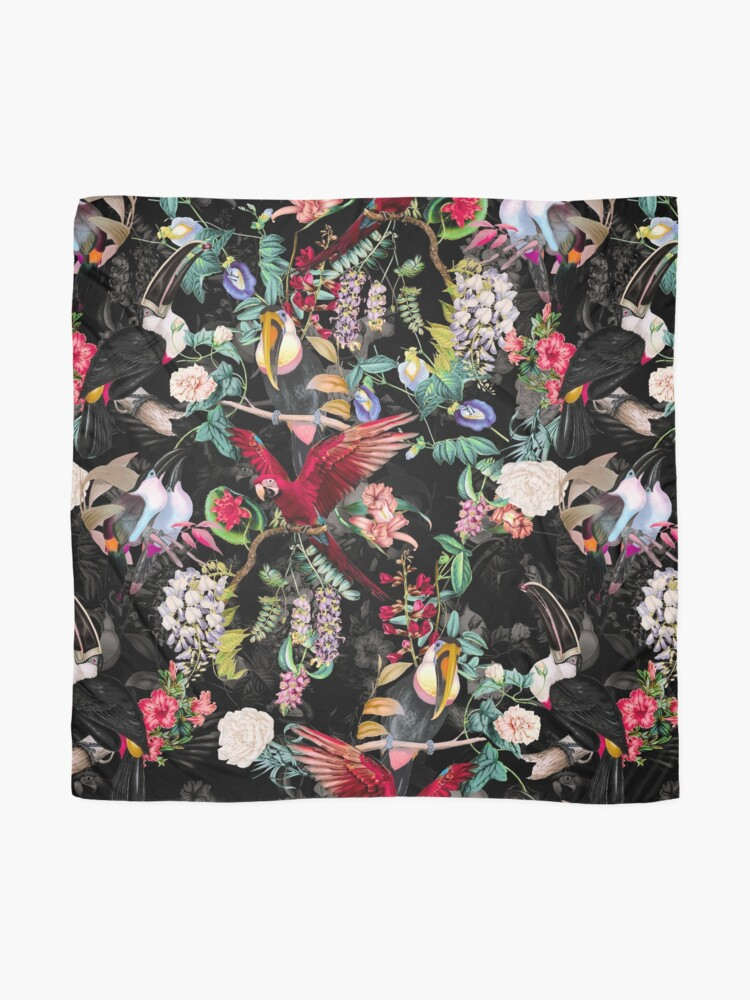 Alternate view of Floral and Birds IX Scarf