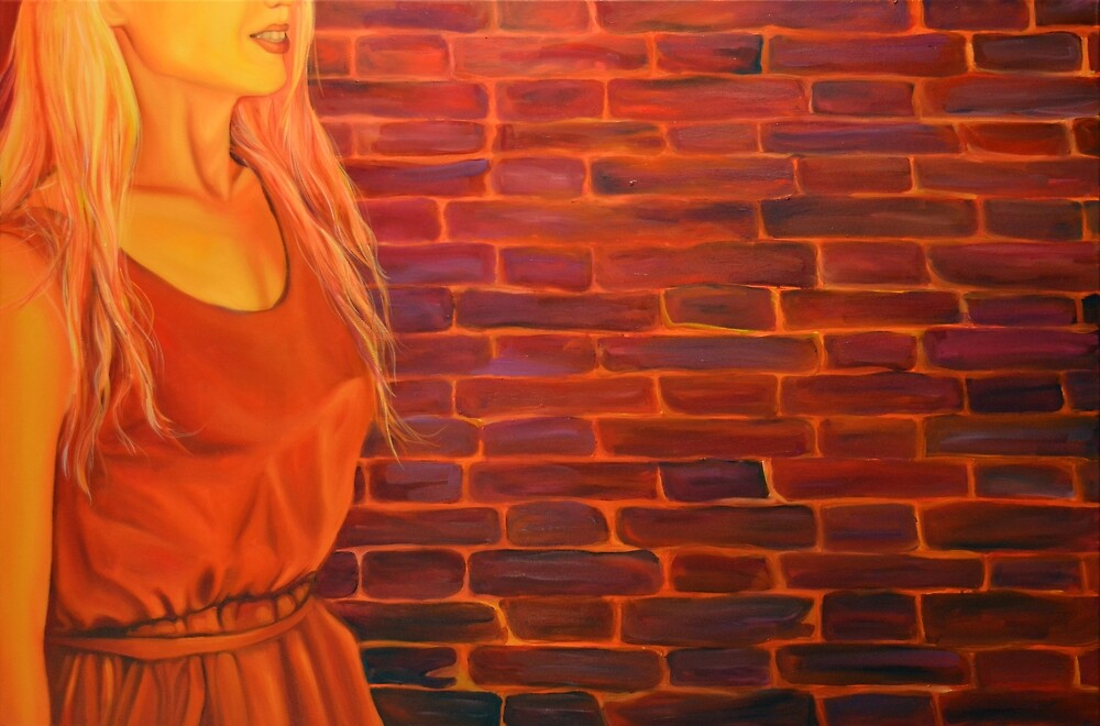 Not just another brick in the wall, 120-80cm, 2017, oil on canvas by oanaunciuleanu