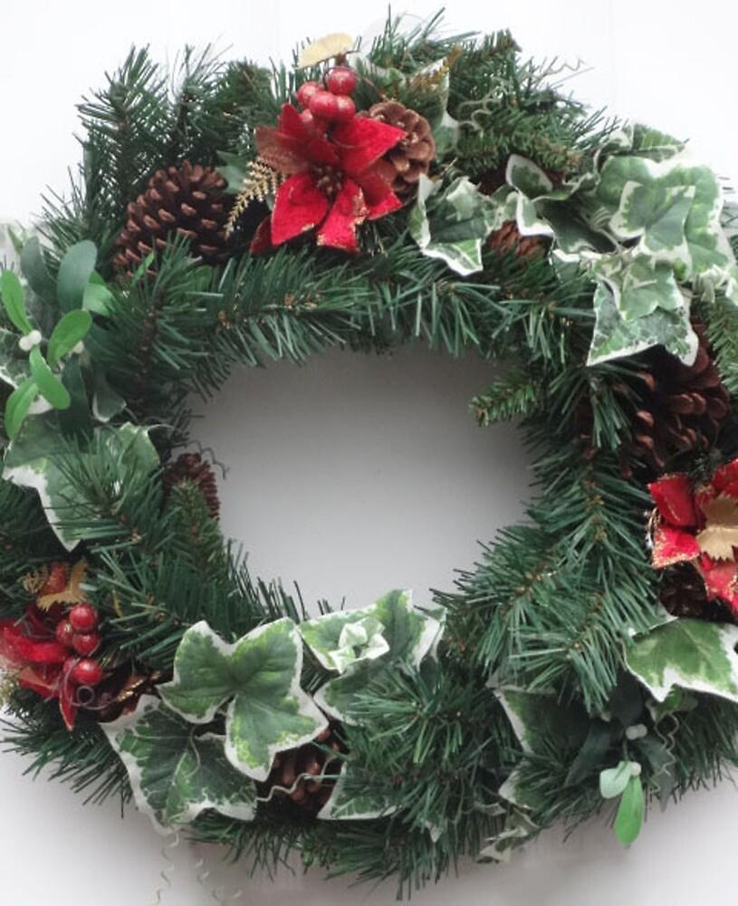 Christmas Door Wreath by EternalRainbow