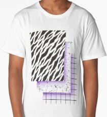 80s Vaporwave Aesthetic  Long T-Shirt