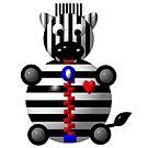 Cute Zebra with a Zipper by Artist4God