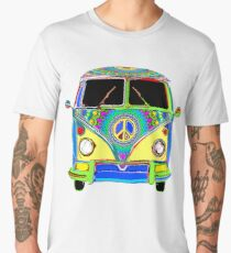 Peace Bus - Psychedelic Men's Premium T-Shirt