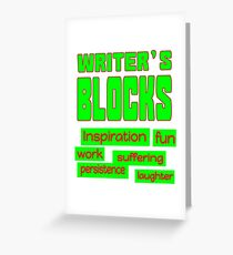 Writer's Blocks Greeting Card