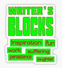 Writer's Blocks Sticker